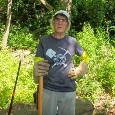 Trail crew member Connie Stern.