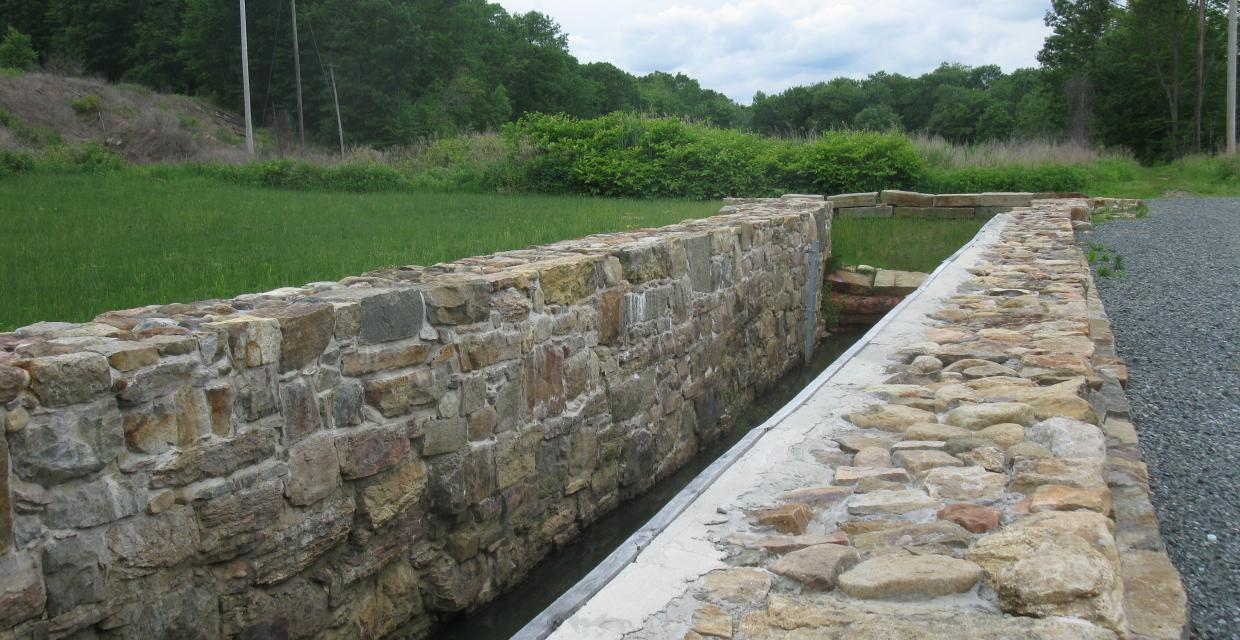 Reconstructed Morris Canal Lock 2 East - Photo by Daniel Chazin