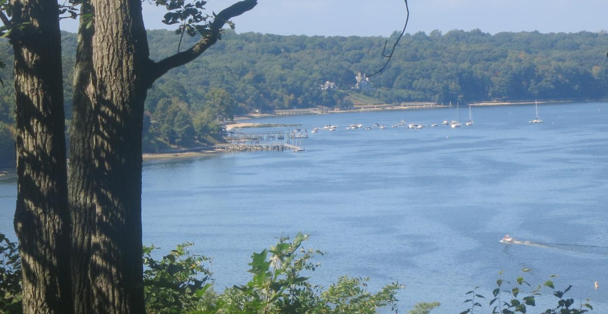 View of the waters of Cold Spring Harbor from the Nassau-Suffolk Greenbelt Trail