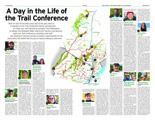 Day in the Life of the Trail Conference from the Winter 2018 Trail Walker.