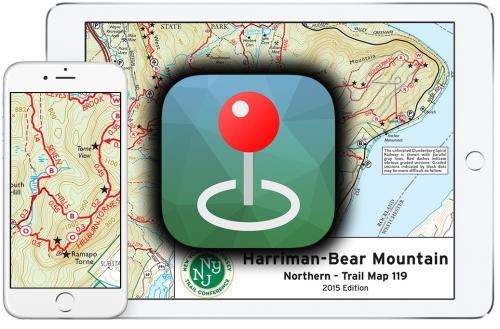 Trail Conference Maps on the Avenza Maps App