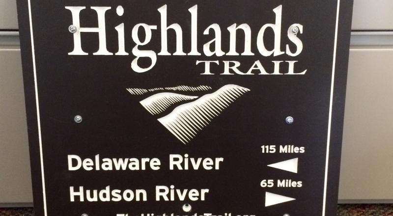Highlands Trail Sign.