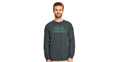 Long Sleeve Rugged Logo T-Shirt - Gray