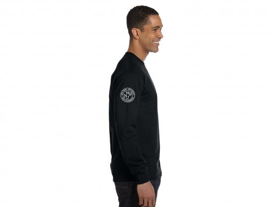 Long Sleeve Rugged Logo T-Shirt - Black